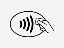 Kontaktlos-Symbol Kreditkarte